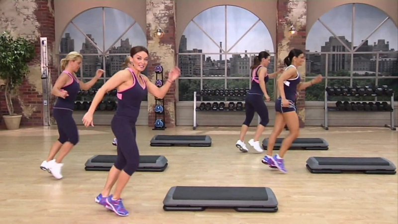 Cathe Friedrich - Party Rockin Step Workout 1 _ Кейт Фридрих - Степ-аэробика