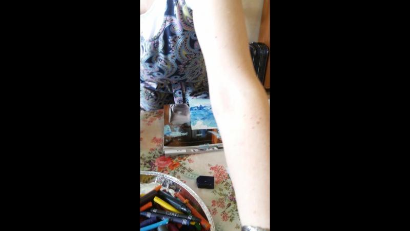Мастер-класс Энкаустики (рисование восковыми мелками по бумаге с помощью утюга)