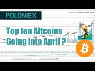 Top ten Altcoins going into April