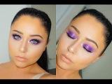 Purple GLITTER GLAM Makeup Tutorial