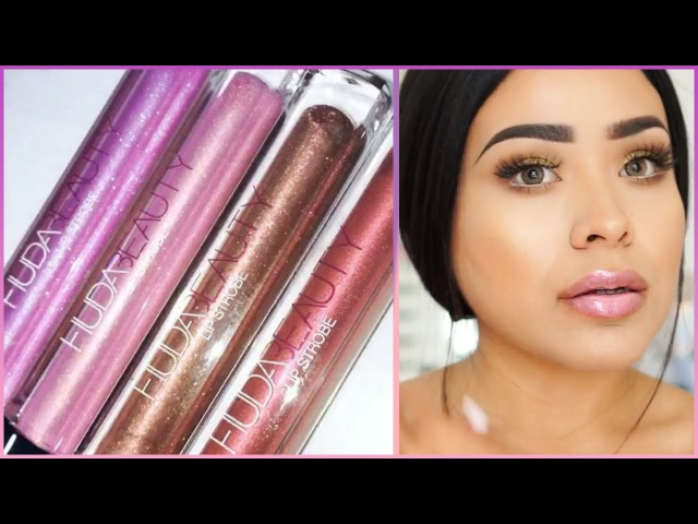 HudaBeauty Lip Strobe Swatches 👄 | All 12 Colors