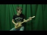 Гитара из картонной коробки. cardboard box guitar