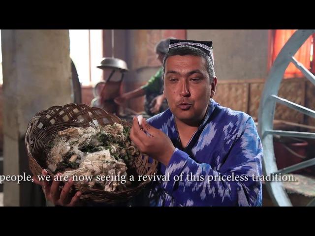 Икат традиции узбекского национального ткачества