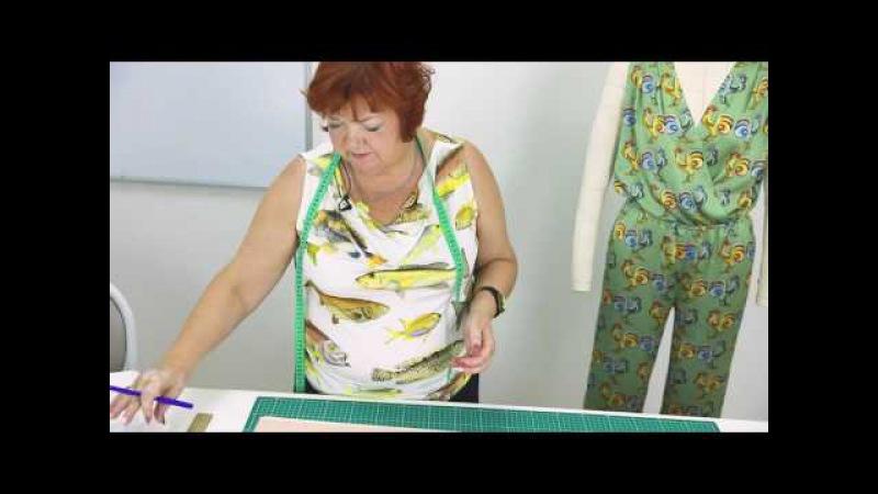Как сшить комбинезон своими руками Соединяем базовую выкройку брюк и лиф по системе 10 мерок Часть 1