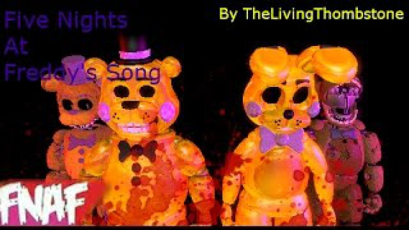 (Fnaf) (SFM) The Living Tombstone Fnaf 1 Song Music Video
