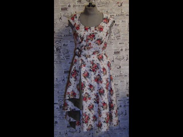Как сшить платье 3 рукав на пол проймы How to sew a dress 3