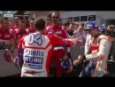 Dovi and Marquez debrief in Parc Ferme