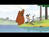 Лесное минимал-техно Funny cartoons.Волк,Медведь и заяц  Log Jam series (long version)