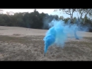 Smoke fountain _ синий ЦветнойдымЯНАО
