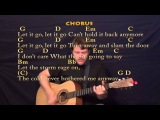 Let It Go (Idina Menzel) Strum Guitar Cover Lesson with Chords and Lyrics