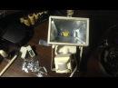 LED прожектор с галогенного замеры в Lux