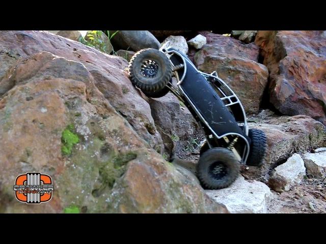 Lori's Crawl Bug on the rocks; a custom Axial SCX10.2