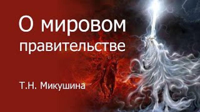 О мировом правительстве. Т.Н. Микушина