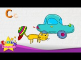 C is for Cap, Car, Cat - Letter C - Alphabet Song Learning English for kids