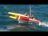 K2 Kiteboat - High Speed Foiling in Rough Water