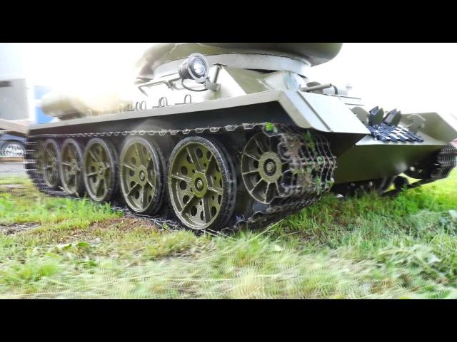 Большой радиоуправляемый танк Т34-85 масштаб 1:2