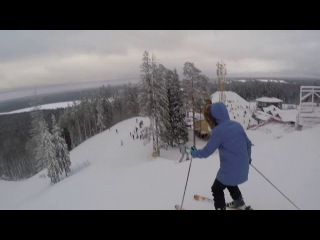 GoPro Hero4 / Горные лыжи. Горнолыжный курорт Красное Озеро / Krasnoe ozero. Skiing.