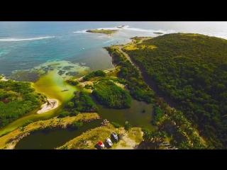 Сант-Мартин (Карибы) с высоты полёта дрона 4K