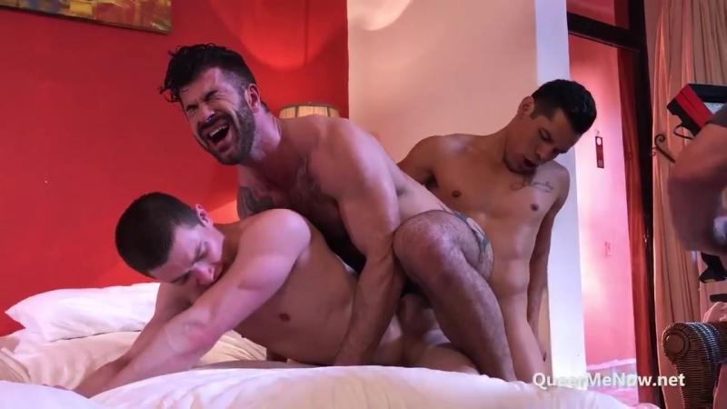 Gay Porn Behind The Scenes. Adam Killian Alejandro Castillo Tag-Team Ruslan Angelo