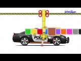 Мультики про машинки Полицейская машина Учим цвета Police Cars Развивающий мультик