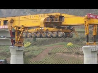 Так строят мосты в Китае! Мостоукладчик.