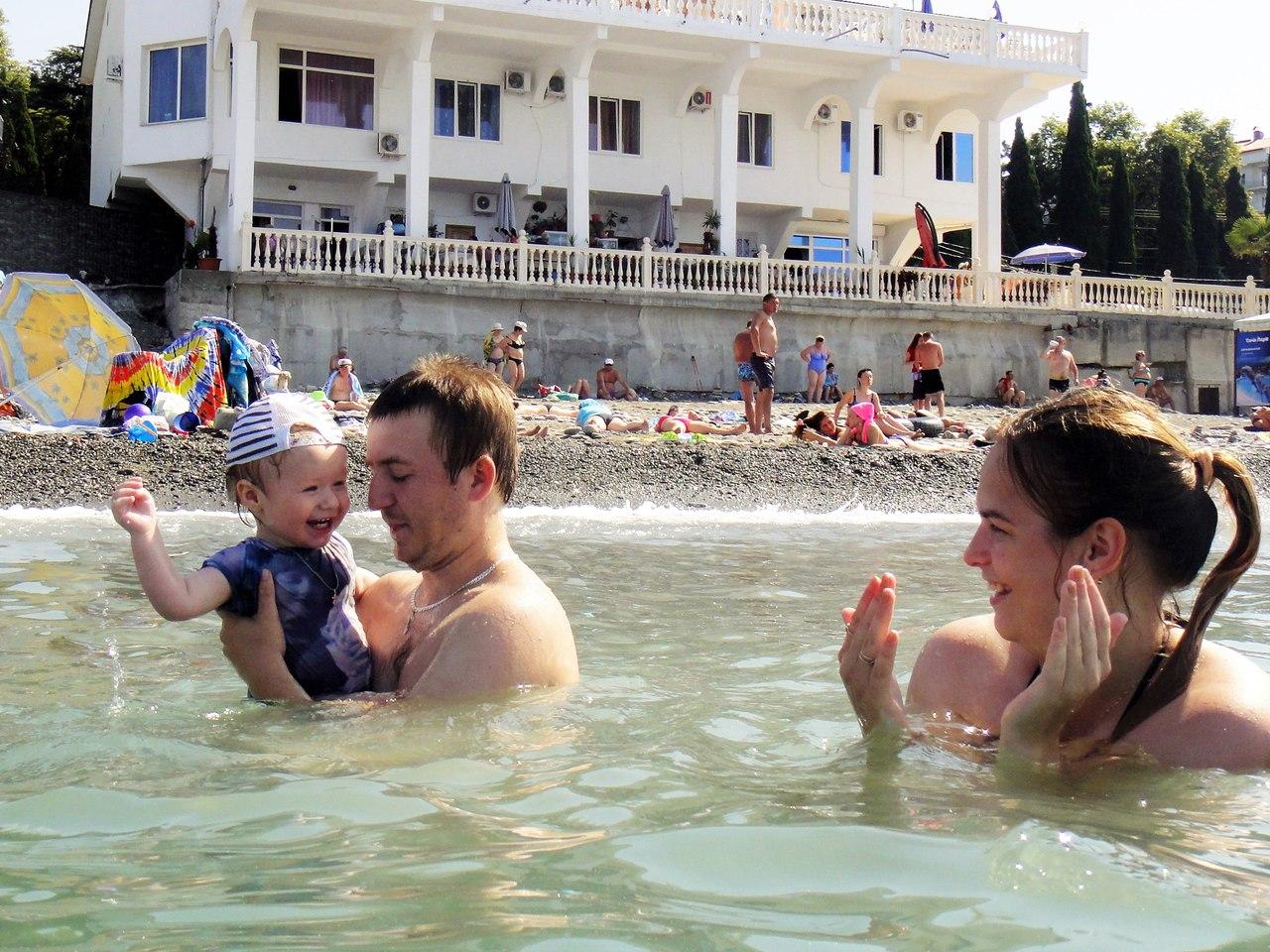семья, море, отпуск, счастье, Лоо