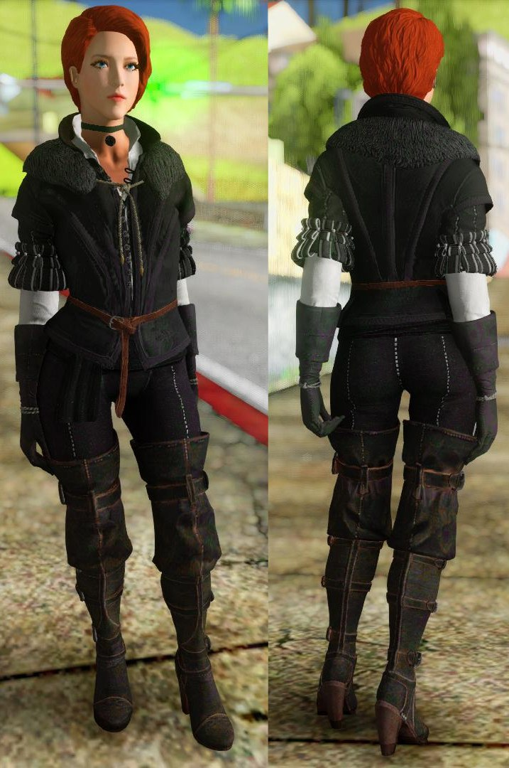 Amazing player: Female (Yennefer suit) - 3D model by DshGames