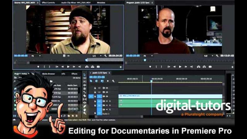 Монтаж документальных фильмов в Premiere Pro