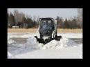 W Чистка снега, отвалы на тракторе, УАЗе, бобкете