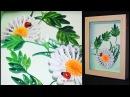 Картина ромашка МК квиллинг Tutorial Quilling chamomile panno flower