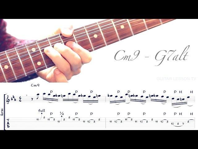 Jazz Fusion Legato Licks - Cm9 - G7alt Example 1
