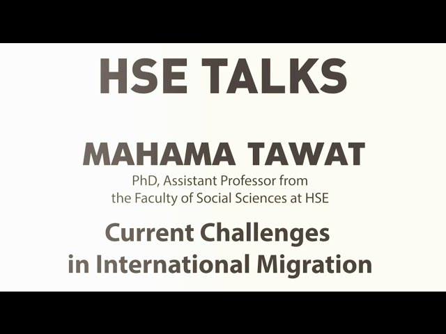 Mahama Tawat Current Challenges in International Migration