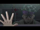 Josuke Higashikata yells at Kishibe Rohan on the bus.