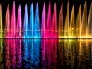 Sharjah Fountain 2017. 4k video. Цветные фонтаны в Шардже 2017.