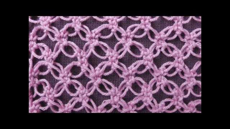 Соломоновы петли или Соломонов узел (Solomon's knot). Ажурный узор для шалей, палантино...