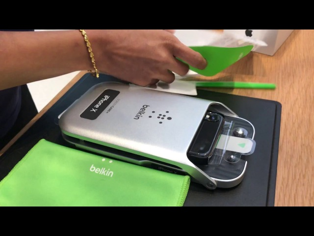 IPhone X Belkin Screen Protector Installation