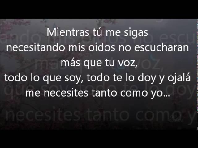 Mientras tu me sigas necesitando - Camilo Sesto (letra)