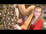 SILENT NIGHT - Harp Twins - Camille and Kennerly