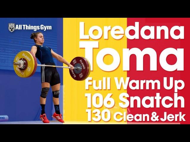 Loredana Toma Full Warm Up Session to 106kg Snatch 130kg CJ 2017 European U23 Championships