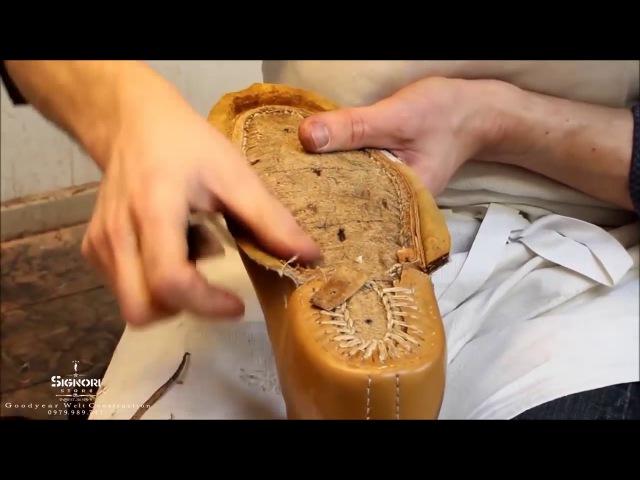 Khám phá 1 nghệ nhân làm 1 đôi boot với cấu trúc giày goodyear welt