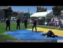 Демонстрация техники рукопашного боя от курсантов ОГУВД. Spartak Sport Day