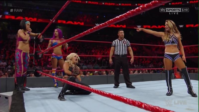 Bayley, Dana Brooke Sasha Banks vs. Charlotte Flair, Emma Nia Jax