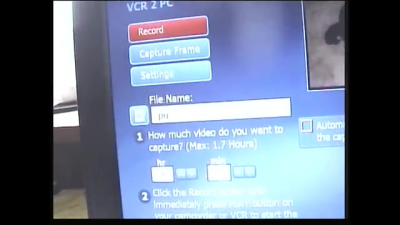 Capturing video with the ION VCR2PC