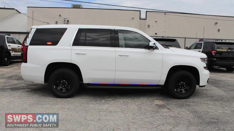 2015 Chevy Tahoe Police outfitted with Running Board LEDs - SWPS - LVPD15TAHOE