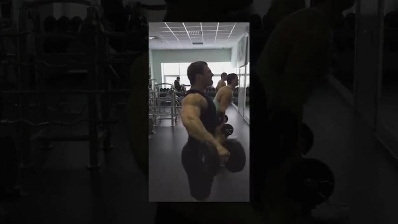 Александр Щербатюк. Тренировка плеч.