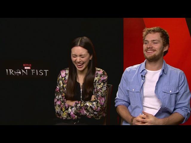 IRON FIST: Finn Jones Jessica Henwick talk feet and earlobes?!