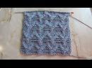 Рельефный плотный узор Вязание спицами Видеоуроки
