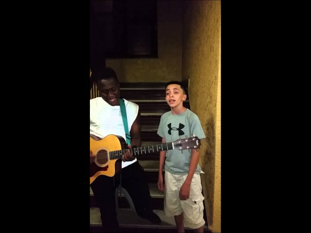 15 yr old bronx boy with amazing voice must see.