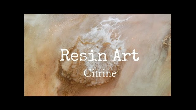 Resin Art (Citrine) with metallic pigment