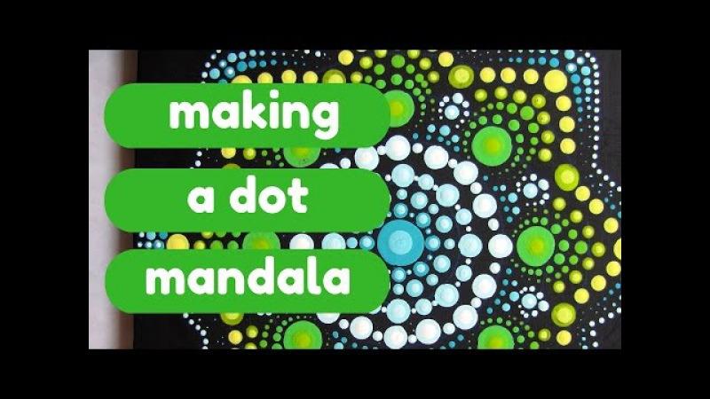 Painting a Dot Mandala - DIY meditation art